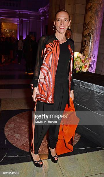 Tiphaine de Lussy attend a VIP private view of 'The Glamour of Italian Fashion 19452014' at the Victoria Albert Museum on April 2 2014 in London...