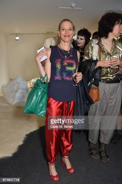"""Tiphaine De Lussy attends RCA Fashion 2018, """"A Walk Without A Cat"""", at The Store Studios, 180 The Strand, on June 14, 2018 in London, England."""