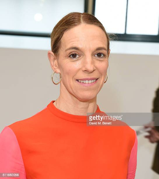 Tiphaine De Lussy attends the Antonio Berardi show during London Fashion Week Autumn/Winter 2016/17 at Brewer Street Car Park on February 22 2016 in...