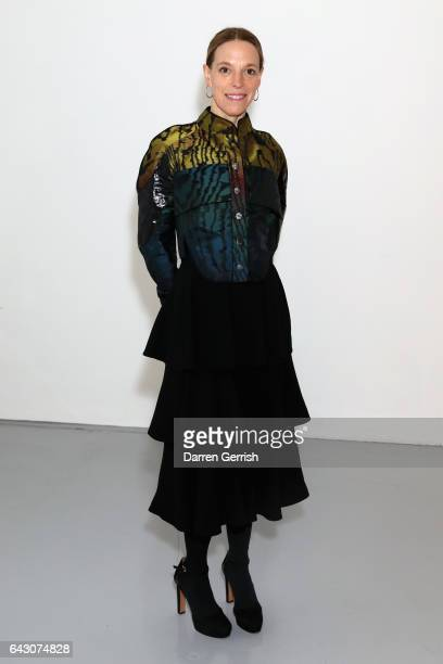 Tiphaine de Lussy attends the Antonio Berardi show during the London Fashion Week February 2017 collections on February 20 2017 in London England