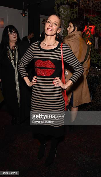 Tiphaine de Lussy attends the Bistrotheque Christmas Dinner in honour of artist Prem Sahib at Bistrotheque on November 30 2015 in London England