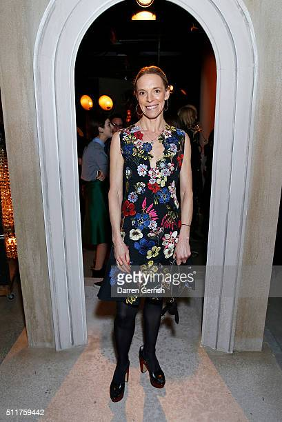 Tiphaine De Lussy attends the Erdem x Selfridges Wrap Party during London Fashion Week Autumn/Winter 2016/17 at on February 22 2016 in London England