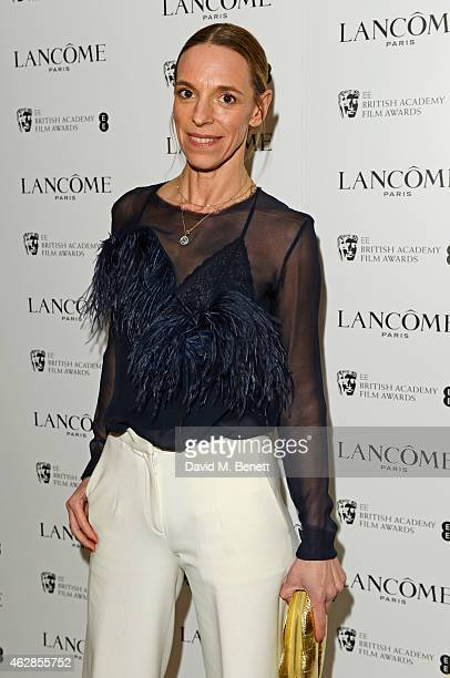 Tiphaine de Lussy attends the Lancome Loves Alma PreBAFTA party at Cafe Royal on February 6 2015 in London England