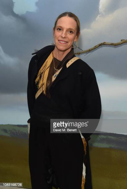 Tiphaine de Lussy attends the launch of 'Wiltshire Before Christ' by Aries X Jeremy Deller x David Sims at The Store X 180 The Strand on January 15...