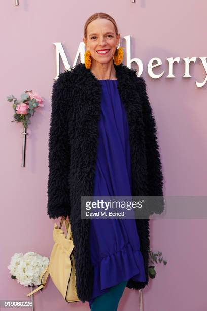 Tiphaine de Lussy attends the Mulberry 'Beyond Heritage' SS18 Presentation during London Fashion Week February 2018 at Spencer House on February 16...