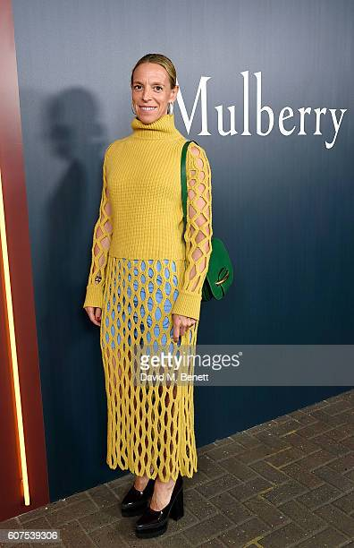 Tiphaine de Lussy attends the Mulberry Spring/Summer 2017 Show at The Printworks on September 18, 2016 in London, England.