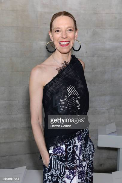 Tiphaine de Lussy attends the Roland Mouret show during London Fashion Week February 2018 at The National Theatre on February 18 2018 in London...