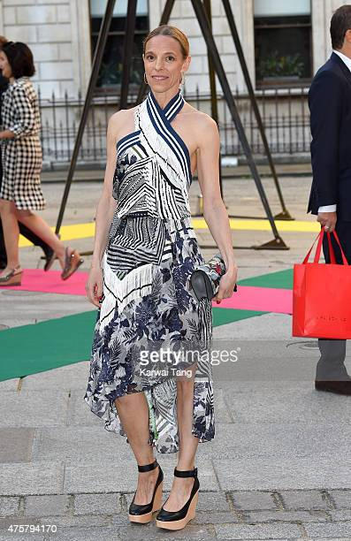 Tiphaine De Lussy attends the Royal Academy of Arts Summer Exhibition at the Royal Academy on June 3 2015 in London England