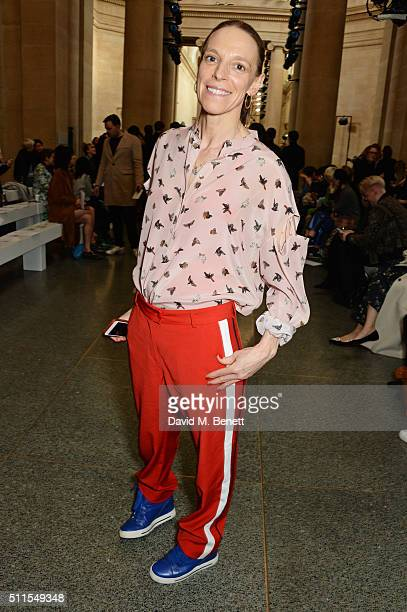 Tiphaine de Lussy attends the Topshop Unique at The Tate Britain on February 21 2016 in London England