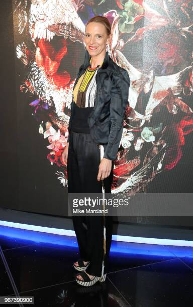 Tiphaine de Lussy attends the UK premiere of 'McQueen' at Cineworld Leicester Square on June 4 2018 in London England