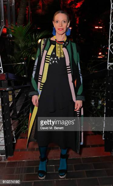 Tiphaine De Lussy attends the Warehouse Barbican InsideOut Launch Event at The Conservatory Barbican Centre on January 25 2018 in London England