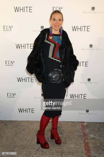 Tiphaine De Lussy attends the WHITE cocktail party hosted by Italian Trade Agency at Ambika P3 on November 23 2017 in London England