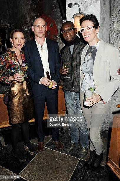 Tiphaine de Lussy Dinos Chapman Dennis Morris and Isabelle Chalard attend a private dinner celebrating the Spring/Summer issue of Another Man...