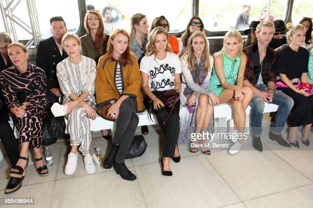 Tiphaine de Lussy, Polly Morgan, Keeley Hawes, Camilla Al Fayed, Olivia Palermo, Pixie Lott, Trent Whiddon and Marissa Montgomery attend the ISSA...
