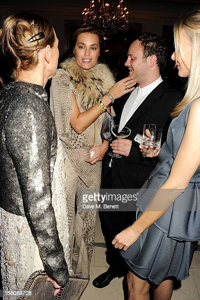 Tiphaine de Lussy Yasmin Le Bon Nicholas Kirkwood and Kim Hersov attend the Harper's Bazaar Women of the Year Awards 2012 in association with Estee...