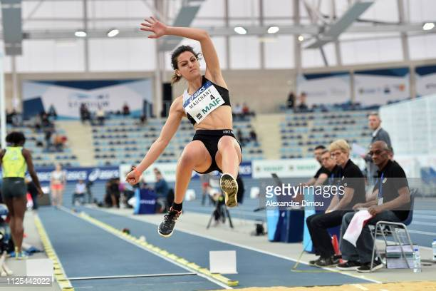 Tiphaine Mauchant second in Long jump during the French Championship Athletic Indoor on February 17, 2019 in Miramas, France.