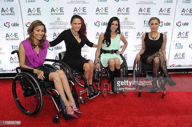 Tiphany Adams Auti Angel Mia Schaikewitz and Angela Rockwood of the Push Girls attend the AE hosted NCTA Chairman's Reception at the Smithsonian...