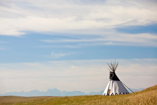 Tipi on the Great Plains 166678591