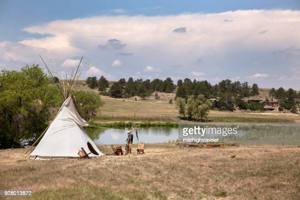 Tipi Prairie Canyon Ranch Open Space Day Franktown Colorado Douglas County