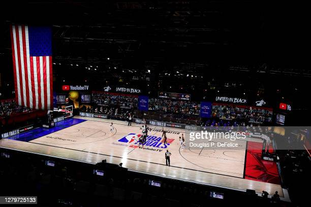 Tip-off between the Los Angeles Lakers and the Miami Heat in Game Six of the 2020 NBA Finals at AdventHealth Arena at the ESPN Wide World Of Sports...