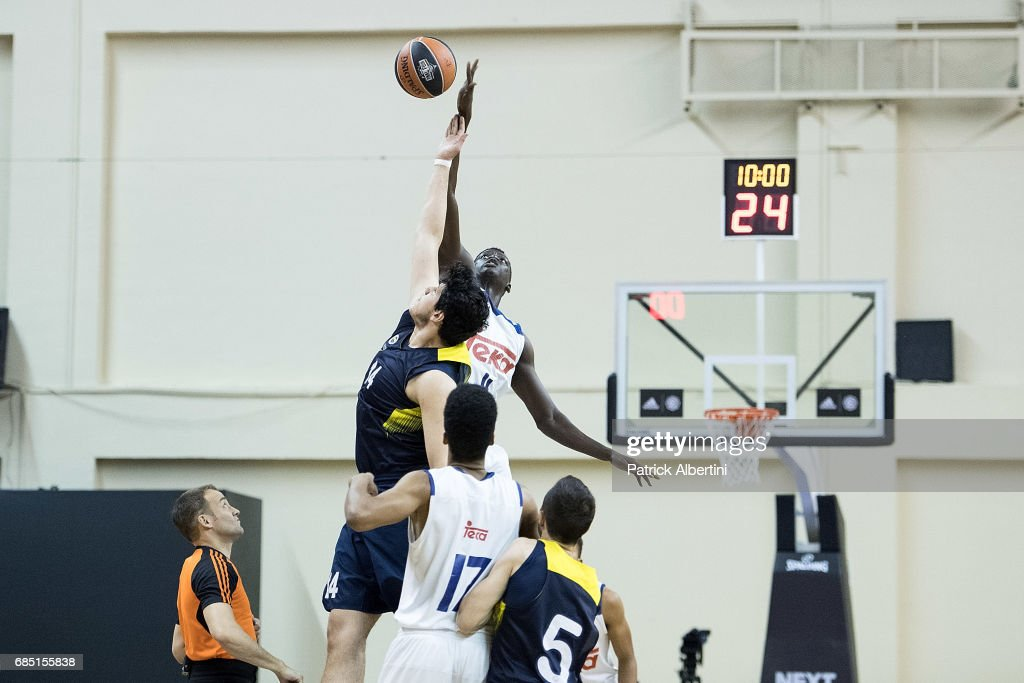 Tipoff during the Euroleague Basketball Adidas Next Generation Tournament game between U18 Real Madrid v U18 Fenerbahce Istanbul at Ahmet Comert on May 19, 2017 in Istanbul, Turkey.