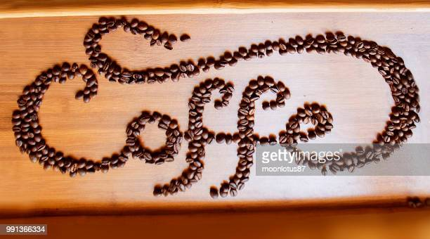 tipography coffee - brand name stock pictures, royalty-free photos & images
