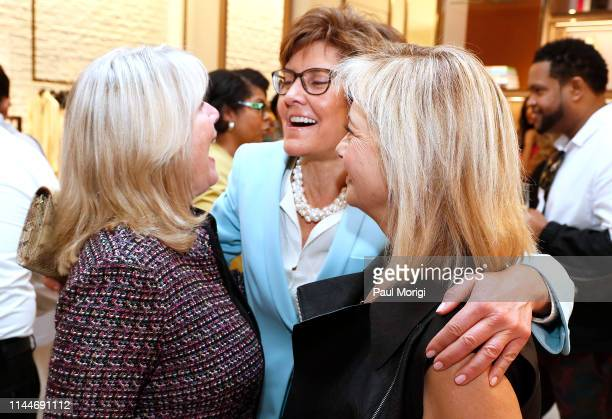 Tipper Gore former Second Lady of the United State Ambassador Capriccio Marshall and Hilary Rosen Managing Director SKDK kick off of the White House...