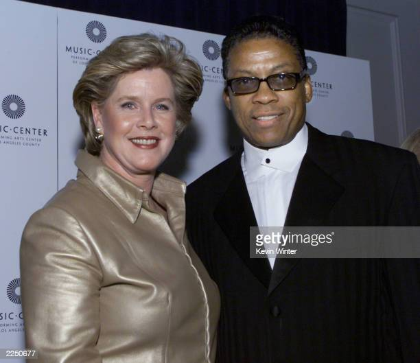 Tipper Gore presented to Herbie Hancock at the Music Center's 18th Annual Distinguished Artist Award Gala at the Beverly Hilton Hotel in Beverly...