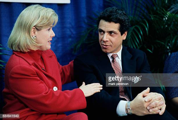 Tipper Gore wife of VicePresident Al Gore and Andrew Cuomo tour a homeless shelter in the Bronx