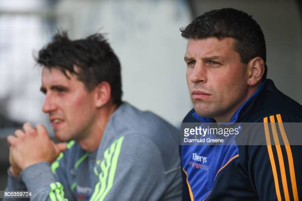 Tipperary Ireland 1 July 2017 Tipperary strength and conditioning coach Denis Leamy right and Patrick Maher during the GAA Hurling AllIreland Senior...