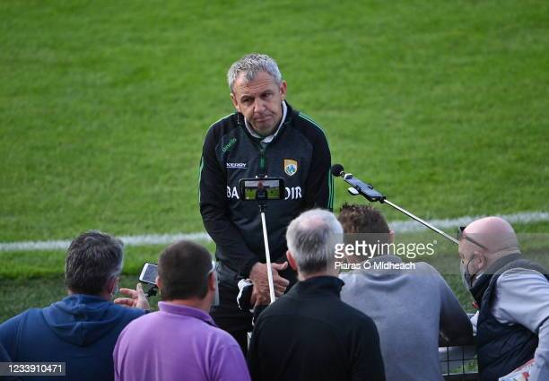 Tipperary , Ireland - 10 July 2021; Kerry manager Peter Keane is interviewed after his side's victory in the Munster GAA Football Senior Championship...