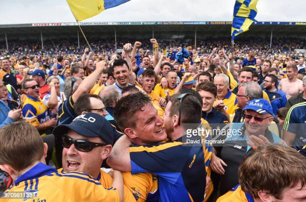 Tipperary Ireland 10 June 2018 John Conlon of Clare is congratulated by supporters following the Munster GAA Hurling Senior Championship Round 4...