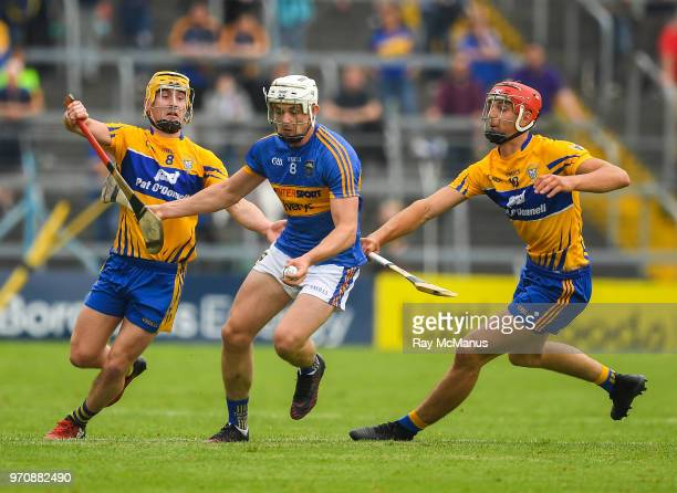 Tipperary Ireland 10 June 2018 Ronan Maher of Tipperary in action against Colm Galvin and Dan McCormack of Tipperary during the Munster GAA Hurling...
