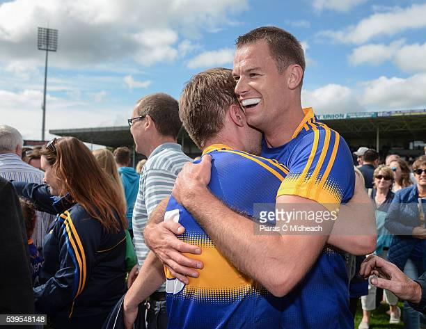 Tipperary Ireland 12 June 2016 Bill Maher left and Alan Moloney of Tipperary celebrate after their Munster GAA Football Senior Championship SemiFinal...