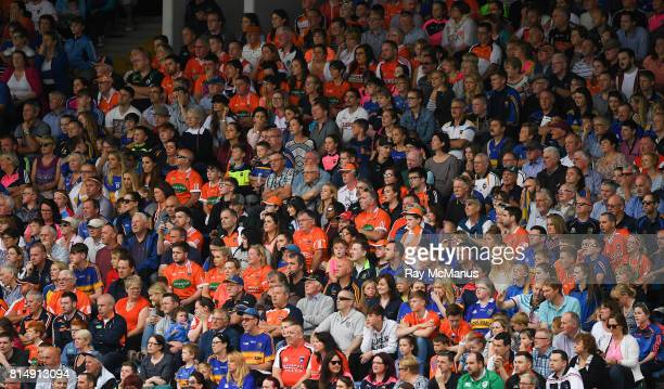 Tipperary Ireland 15 July 2017 Tipperary and Armagh supporters amongst the 6823 attendance watch the GAA Football AllIreland Senior Championship...