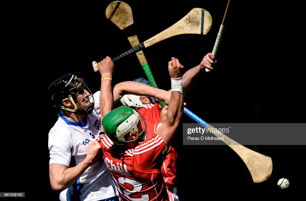 Tipperary , Ireland - 18 June 2017; Shane Kingston, front, and Patrick Horgan of Cork in action against Barry Coughlan of Waterford during the Munster GAA Hurling Senior Championship Semi-Final match between Waterford and Cork at Semple Stadium in Thurles, Co Tipperary.