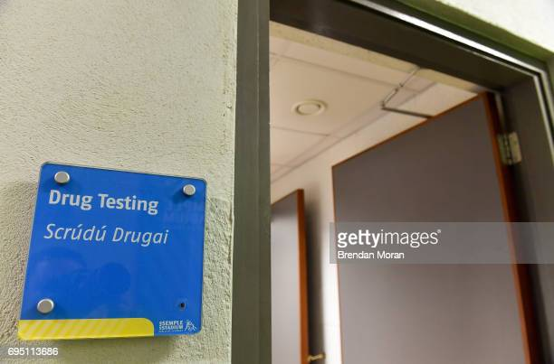 Tipperary Ireland 21 May 2017 A drug testing room ahead of the Munster GAA Hurling Senior Championship SemiFinal match between Tipperary and Cork at...
