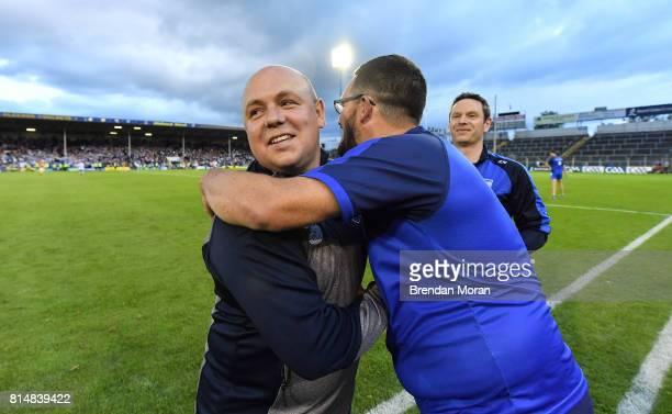 Tipperary Ireland 8 July 2017 Waterford manager Derek McGrath celebrates after the GAA Hurling AllIreland Senior Championship Round 2 match between...