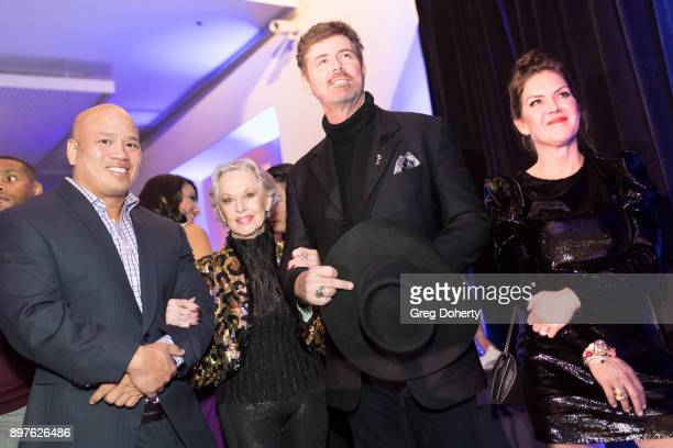 Tippi Hedren and Kira Reed Lorsch attend the Rio Vista Universal's Valkyrie Awards and Holiday Party on December 16 2017 in Los Angeles California