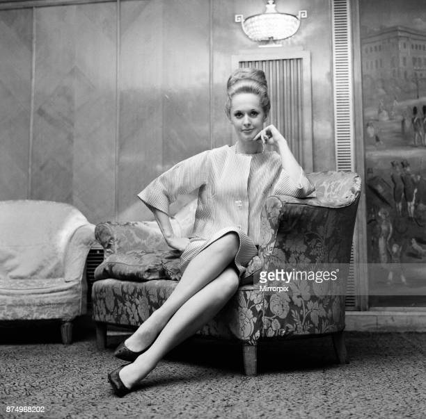 Tippi Hedren at a press reception at the Dorchester Hotel for he rnew film 'A Countess from Hong Kong' 1st March 1966