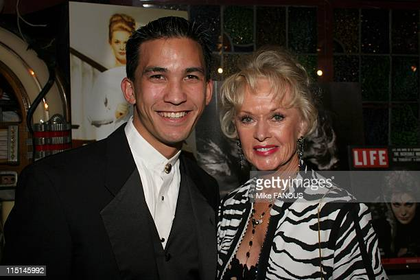 Tippi Hedren Magical Levitation at Benefit for the ROAR Foundation in Hollywood United States on November 06 2004 Tippi Hedren with Magician Jason...