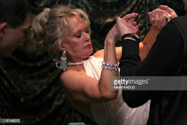 Tippi Hedren Magical Levitation at Benefit for the ROAR Foundation in Hollywood United States on November 06 2004 Tippi Hedren being magically...
