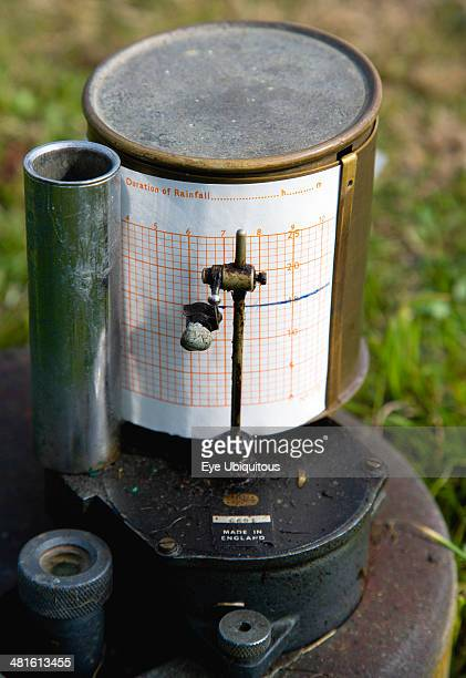 Tipping Bucket Rain Gauge Recorder with ink pen marking duration of rainfall on graph at the Bognor Regis Weather Station