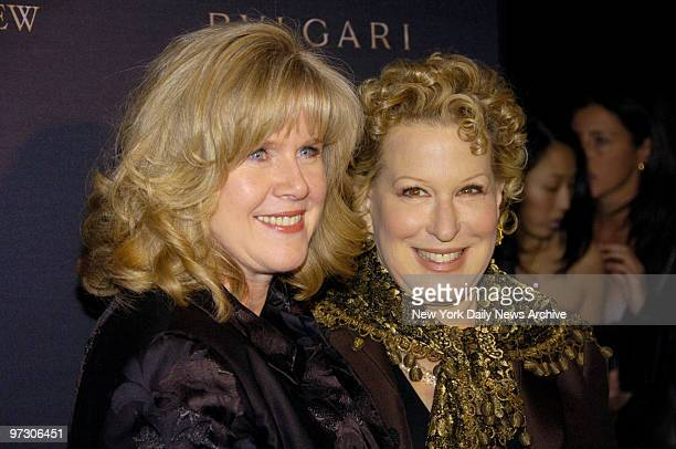 Tippor Gore who accepted the Best Documentary award for her husband poses with Bette Midler who presented the award to her at the National Board Of...