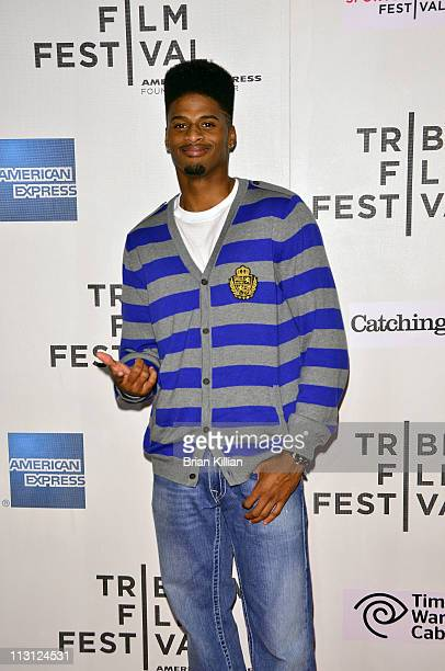 """Tiquan Underwood of the Jacksonville Jaguars attends the Tribeca/ESPN Sports Film Festival Gala - """"Catching Hell"""" during the 10th annual Tribeca Film..."""