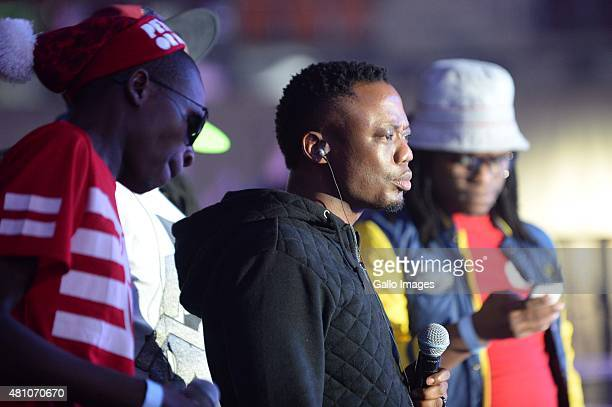 DJ Tira and Big Nuz during rehearsals ahead of the MTV Africa Music Awards on July 18 2015 at the Durban International Convention Centre in Durban...