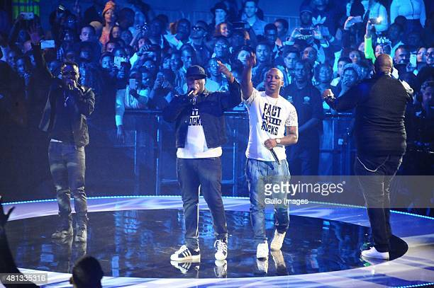 MJDJ Tira and Big Nuz during the 2015 MTV Africa Music Awards on July 182015 at the Durban International Conference Centre in DurbanSouth Africa The...