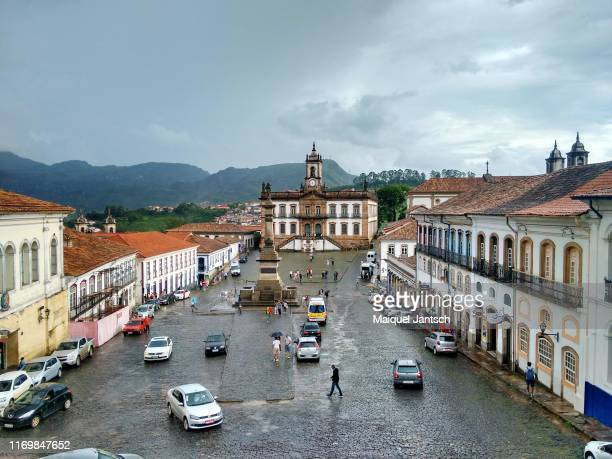 tiradentes square in ouro preto city, minas gerais state - brazil - preto stock pictures, royalty-free photos & images