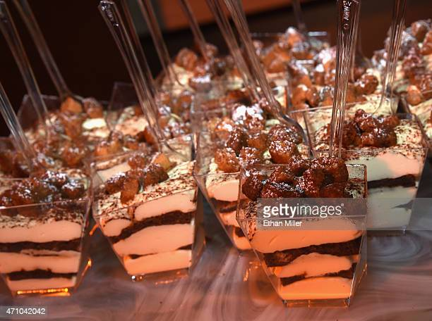 Tiramisu is served at the Payard Patisserie Bistro booth during Vegas Uncork'd by Bon Appetit's Grand Tasting event at Caesars Palace on April 24...