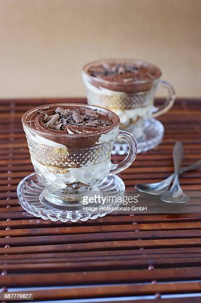 Tiramisu with chocolate flakes